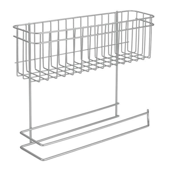 Stand adițional cu raft și suport pentru prosoapele de bucătărie Metaltex Rollo
