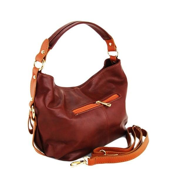Kožená kabelka Alessia Marrone/Cognac