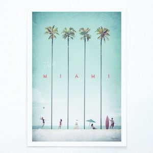Poster Travelposter Miami, A3