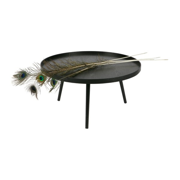 Černý konferenční stolek WOOOD Mesa, Ø78cm