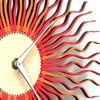Dřevěné hodiny Radium červené, 29 cm