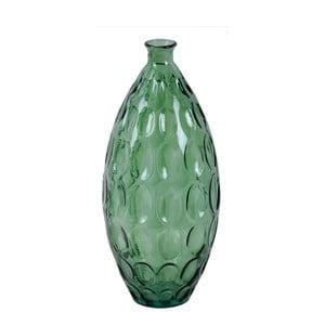 Zelená skleněná váza z recyklovaného skla Ego Dekor Dune, výška 45 cm