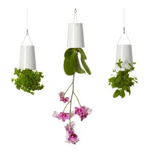 Trojice létajících květináčů Triple Pack Mini, bílé