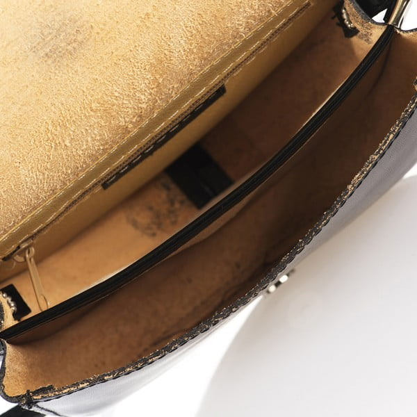 Černá kožená kabelka Giorgio Costa Calf