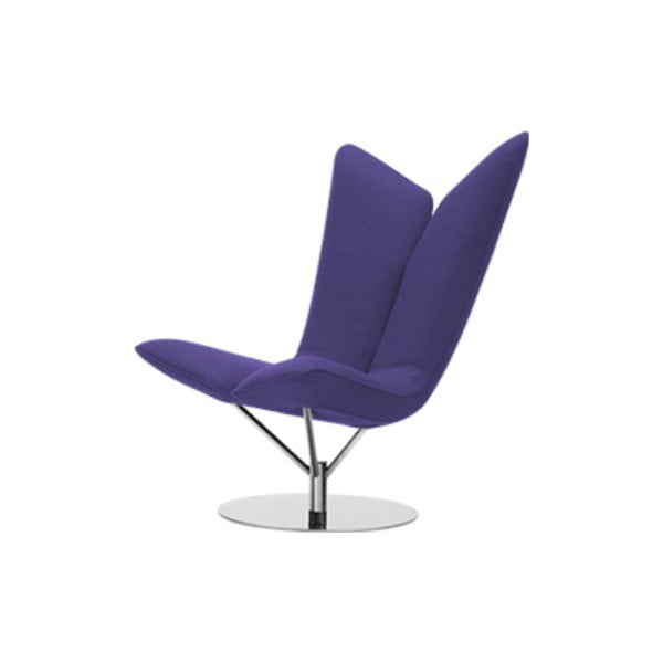 Ciemnofioletowy fotel Softline Angel Vision Lilac