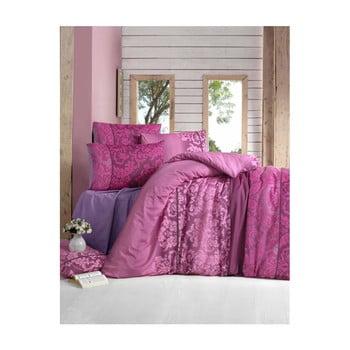 Lenjerie de pat cu cearșaf din bumbac și 2 fețe de pernă Clared, 200 x 220 cm de la Victoria