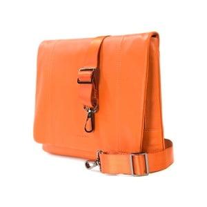 Oranžová taška na rameno z italské kůže Tucano One
