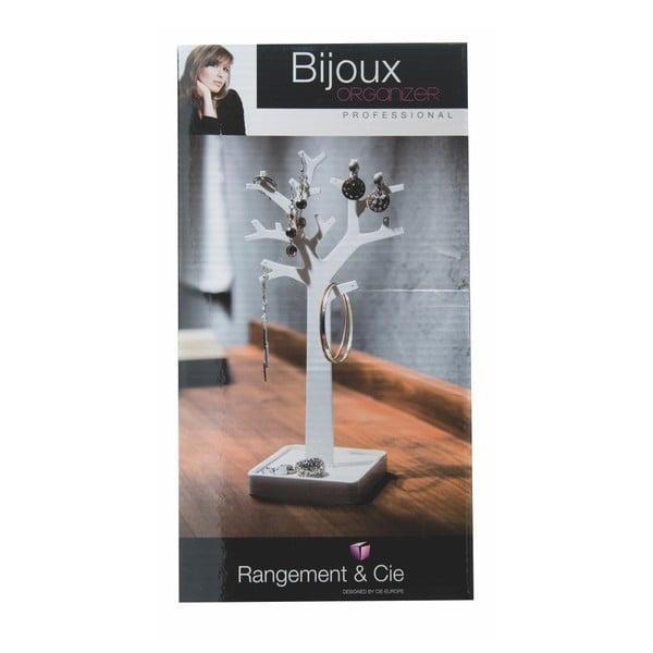 Bílý organizér na šperky ve tvaru stromu Compactor