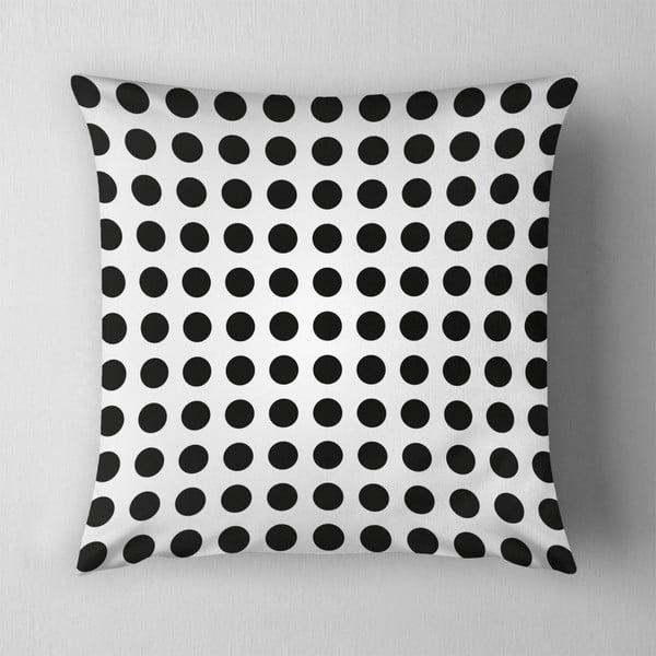 Polštář Small Black Dots, 43x43 cm