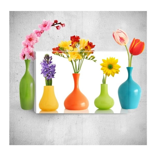 Tablou de perete 3D Mosticx Colourful Bottles, 40 x 60 cm