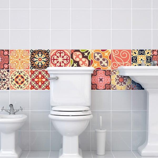 Set 30 autocolante de perete Ambiance Cement Tiles La Valette, 10 x 10 cm
