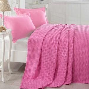 Cuvertură subțire de pat Boya Fucsia, 200 x 235 cm, roz