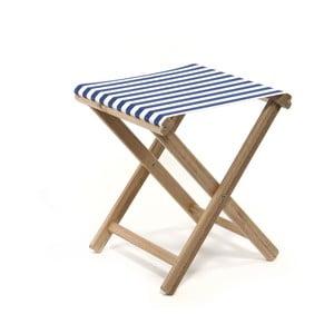 Skládací stolička Beach, modré proužky