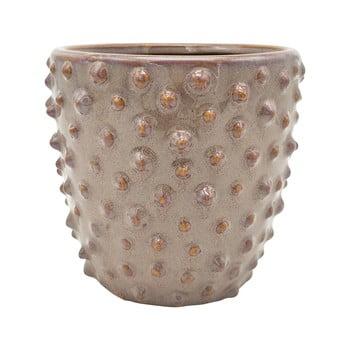 Ghiveci din ceramică PT LIVING Spotted, ø 14 cm, gri - roz