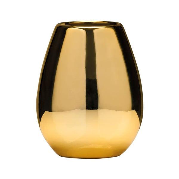 Kelímek zlaté barvy na zubní kartáčky z dolomitu Premier Housewares Magpie