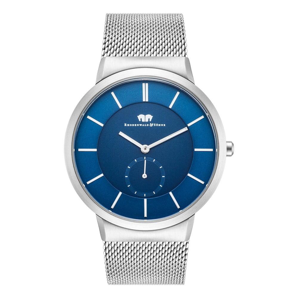 Pánské hodinky ve stříbrné barvě s modrým ciferníkem Rhodenwald & Söhne Trademaster