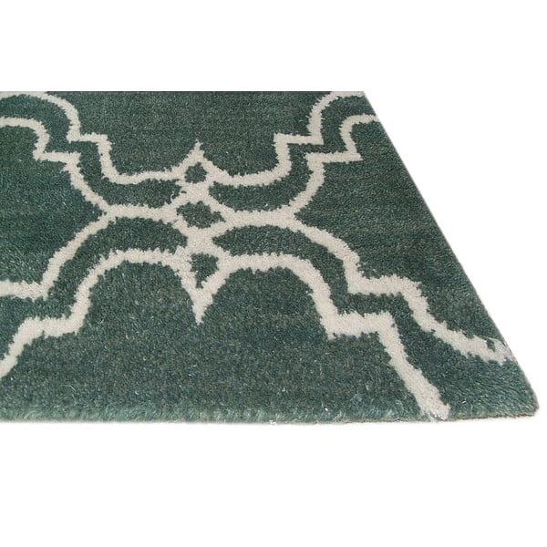 Zelený vlněný koberec Bakero Riviera, 153x244cm