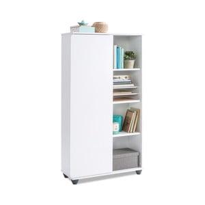 Bílá knihovna White Bookcase With Storage