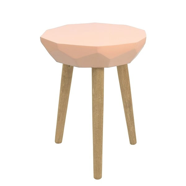Růžový stolek HF Living Diamond
