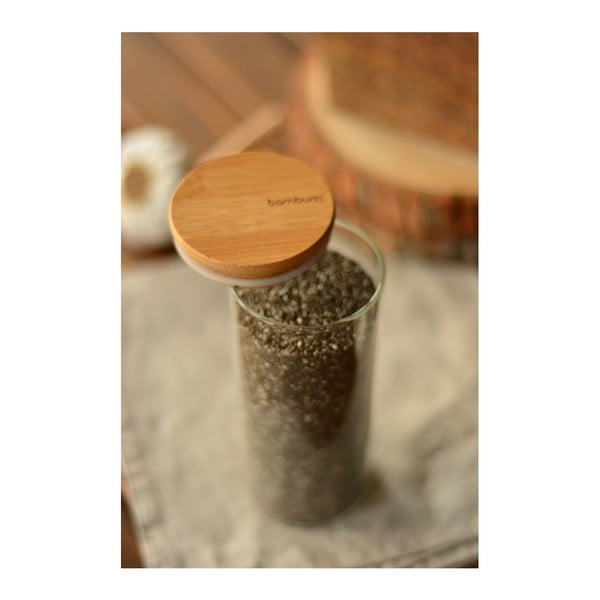 Recipient din sticlă și capac Bambum Bolla, 450 ml