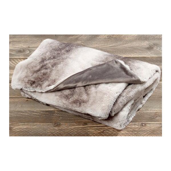 Světle hnědá deka z umělé kožešiny Boltze Rabbit, 200x150cm