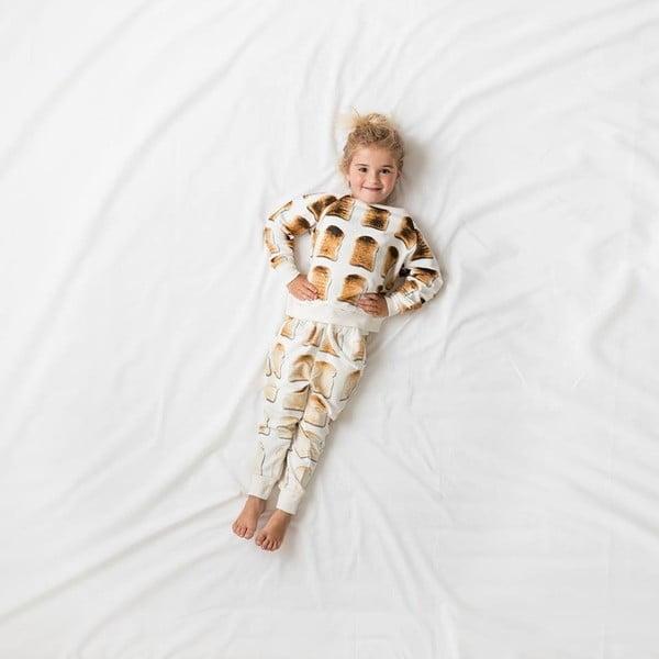 Bílé dívčí kalhoty Snurk Toast, vel. 140