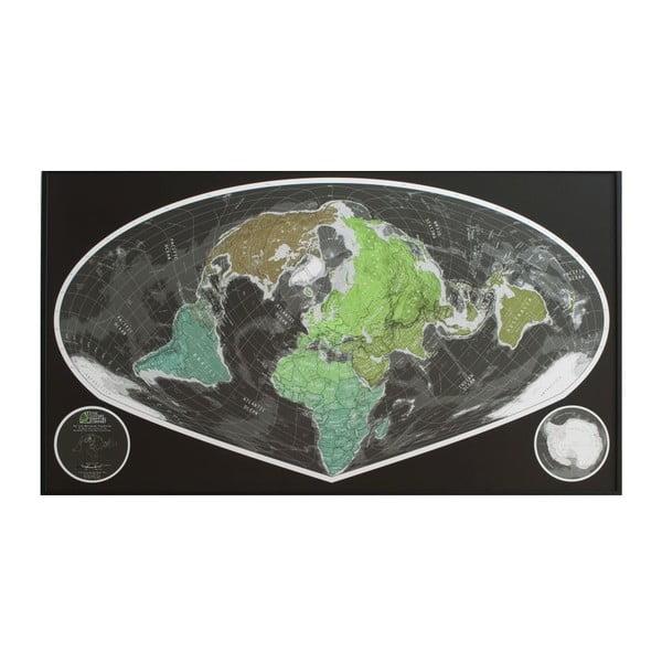 Zelená širokoúhlá mapa The Future Mapping Company Future Map, 101x58cm