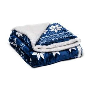 Pătură din micropluș My House Winter, 150 x 200 cm, albastru