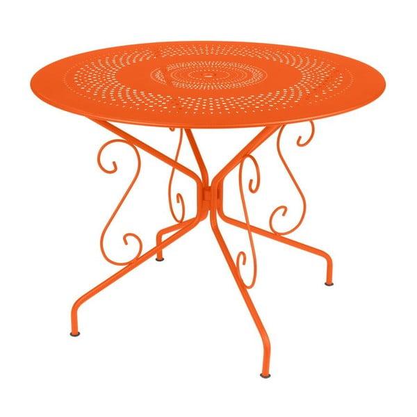 Oranžový kovový stůl Fermob Montmartre, Ø96cm