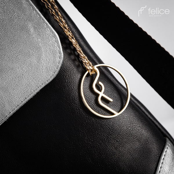Kabelka Felice A11 Black/Silver