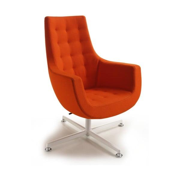Oranžové křeslo Zago Bureau