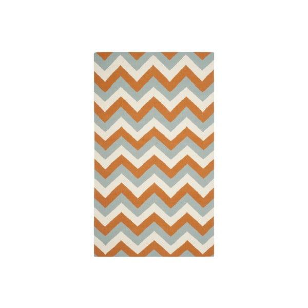 Vlněný koberec Safavieh Harlow 91x152 cm, oranžový