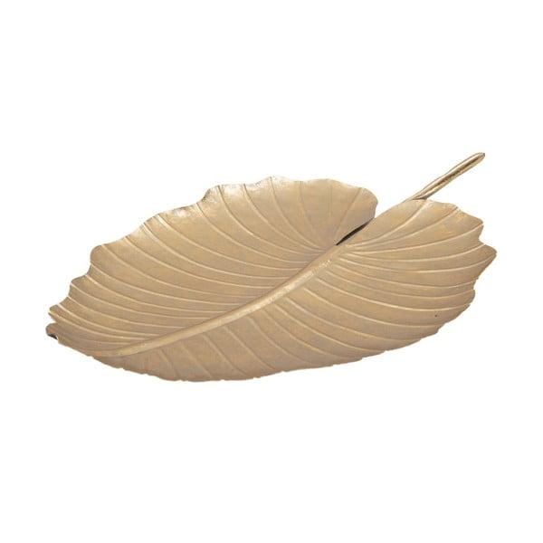 Decorațiune Mauro Ferretti Leaf, 35,5 x 23 cm, auriu