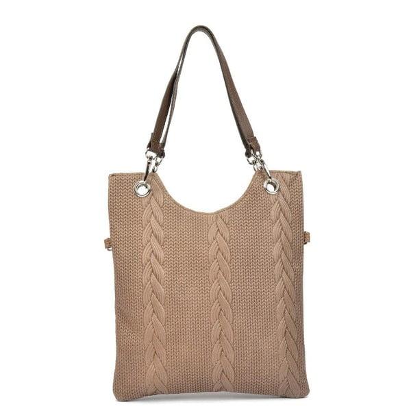 Hnedá kožená kabelka Mangotti Zanya