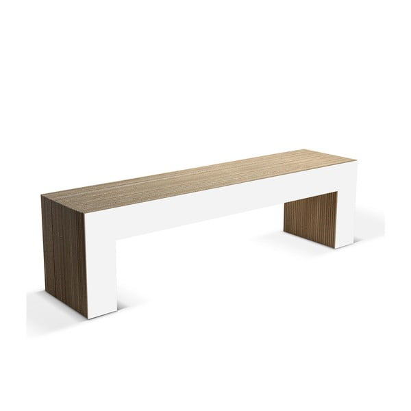 Kartonová lavice Panca White, 160 cm