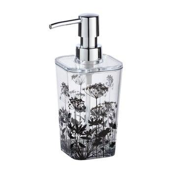 Dozator săpun, cu model floral Wenko Botanic, transparent