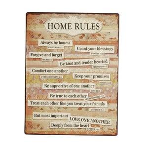 Cedule Home rules, 35x27 cm