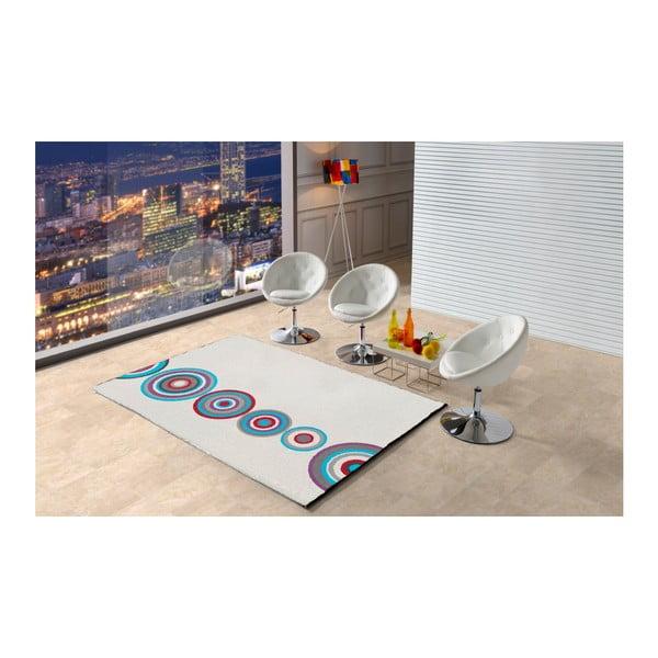 Bílý koberec Universal Boras Circles, 160x230cm