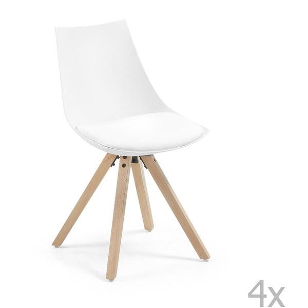 Sada 4 bílých židlí La Forma Armony Hope