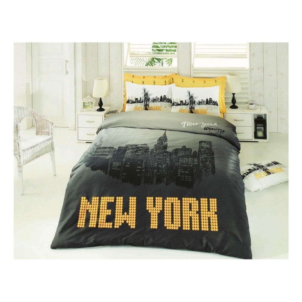 Povlečení s prostěradlem New York, 200 x 220 cm