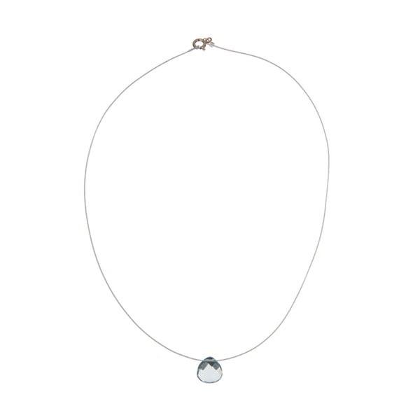 Stříbrný náhrdelník Aquamarine Quartz (akvamarín)