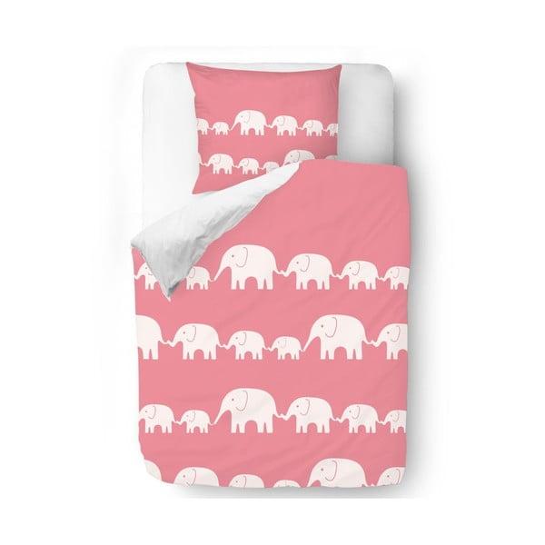 Povlečení Pink Elephants, 140x200 cm