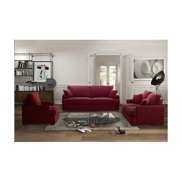 Trojdílná sedací souprava Jalouse Maison Irina, červená