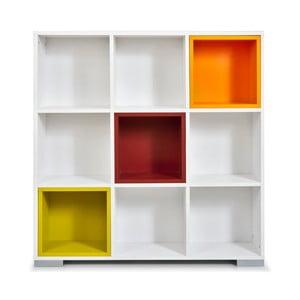 Knihovna Domino, bílé a barevné boxy