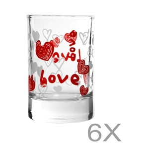 Sada 6 sklenic Mezzo Pagna, 57 ml