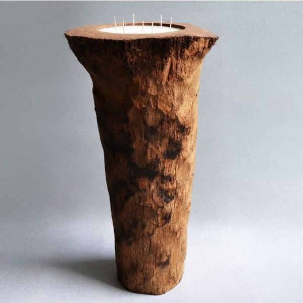 Palmová svíčka Legno Long s vůní vanilky a pačuli, 160 hodin hoření