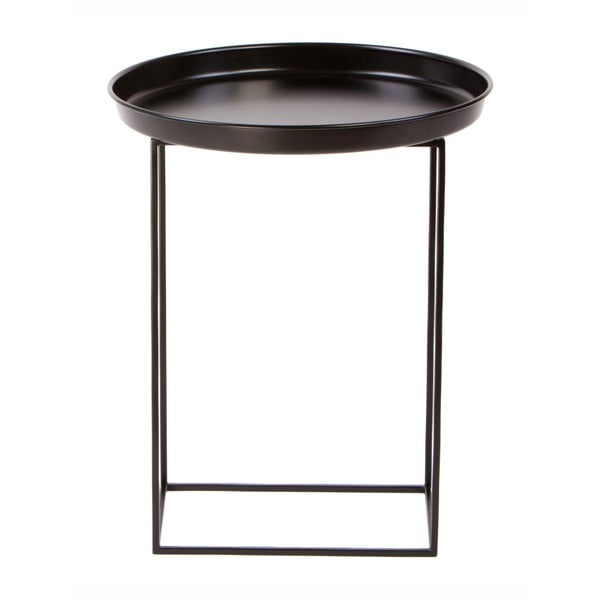 Măsuță metalică Nørdifra Ramme, ⌀43cm, negru