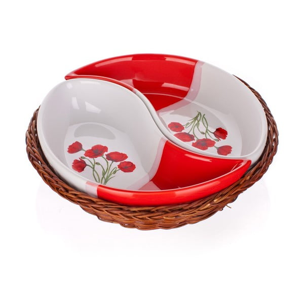 Mísa v košíku Banquet Red Poppy, 20,5 cm