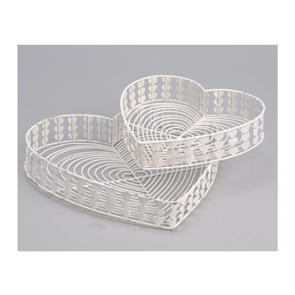 Sada 2 podnosů White Baskets
