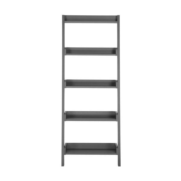 Tmavě šedý opěrný žebřík s policemi Monobeli Dorian, výška164cm